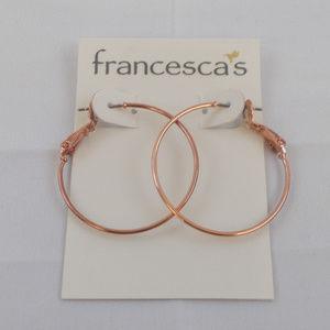 Francesca's Rose Gold Hoop Earrings
